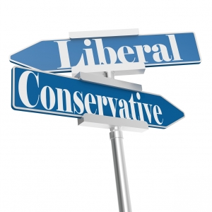 18380009-change-directions-with-conservative-and-liberal-signs